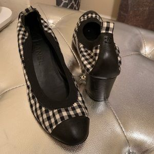 Chanel Gingham Pumps 38.5
